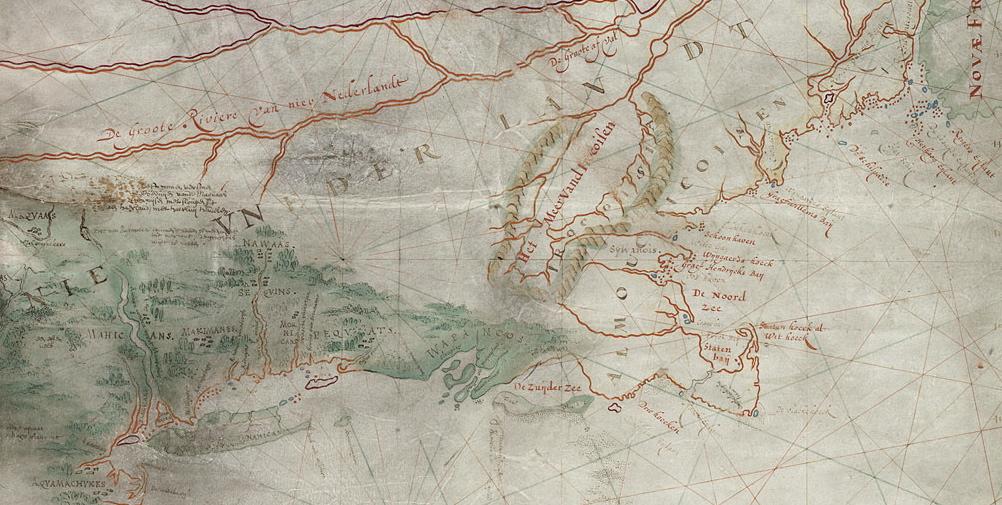Oudste kaart van <br>Manhattan
