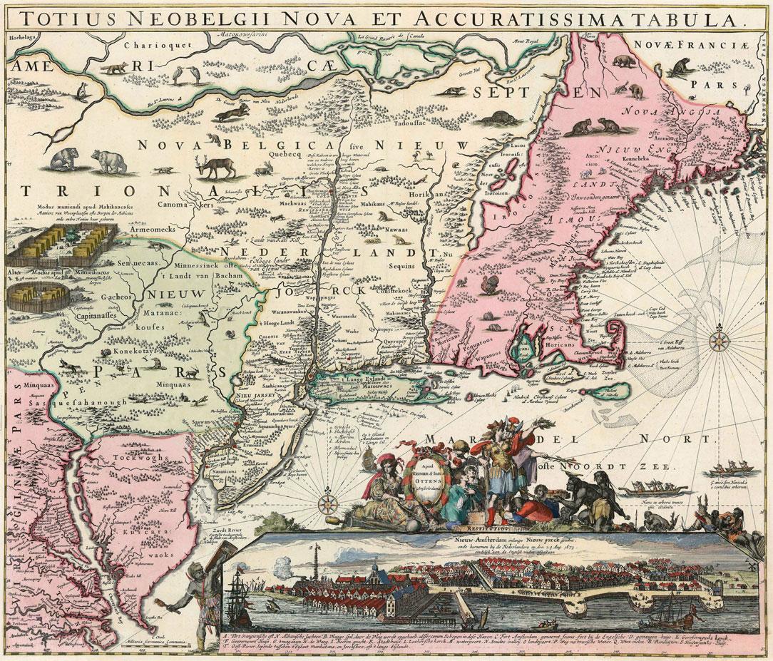 1640 Kaart Nieuw Nederland